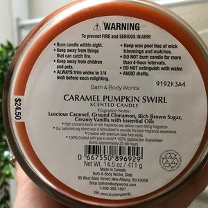 Bath & Body Works Accents - Bath & Body Works | Caramel Pumpkin Swirl Candle
